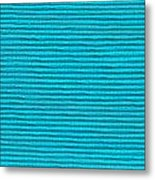 Turquoise Cloth Metal Print