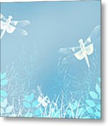 Turquoise Dragonfly Art Metal Print