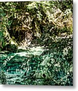 Turquoise Forest Pond On A Summer Day No1 Metal Print