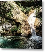 Turquoise Forest Pond On A Summer Day No2 Metal Print