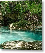 Turquoise Forest Pond On A Summer Day No3 Metal Print
