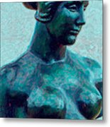 Turquoise Maiden - Digital Art Metal Print
