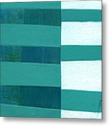 Turquoise Misalignment Metal Print