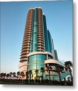 Turquoise Place Rising Metal Print
