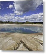 Turquoise Pool In Yellowstone National Park Metal Print