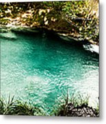 Turquoise River Waterfall And Pond Metal Print