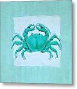 Turquoise Seashells I Metal Print