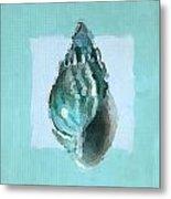 Turquoise Seashells V Metal Print by Lourry Legarde