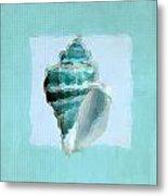 Turquoise Seashells Viii Metal Print by Lourry Legarde