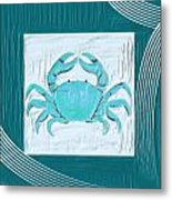 Turquoise Seashells Xix Metal Print