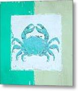 Turquoise Seashells Xv Metal Print