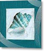 Turquoise Seashells Xxii Metal Print