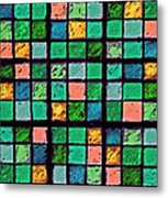Turquoise Sudoku Metal Print