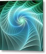 Turquoise Web Metal Print