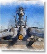Turrets 1 And 2 Uss Iowa Battleship Photo Art 01 Metal Print