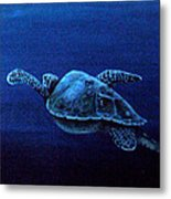 Turtle In The Red Sea Metal Print