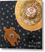 Turtle Moon Metal Print