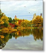 Turtle Pond 2 - Central Park - Nyc Metal Print