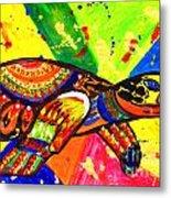 Turtle Pop Art Metal Print