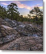 Turtle Rocks Atop Petit Jean Mountain - Arkansas Metal Print