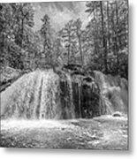 Turtletown Creek In Black And White Metal Print