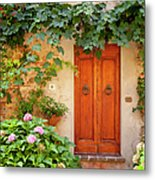 Tuscan Door Metal Print