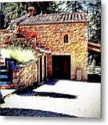 Tuscan Farmhouse Metal Print