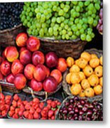 Tuscan Fruit Metal Print