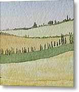Tuscan Hillside Four Metal Print