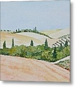 Tuscan Hillside One Metal Print