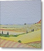 Tuscan Hillside Three Metal Print