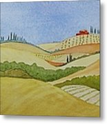 Tuscan Hillside Two Metal Print