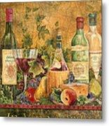 Tuscan In Vino Veritas Metal Print