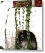 Tuscan Pottery Metal Print