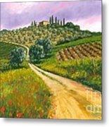 Tuscan Road Metal Print by Michael Swanson