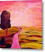 Tuscan Skies ... An Impressionist View Metal Print