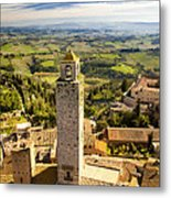 Tuscan Tower Metal Print