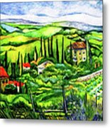 Tuscan Valley Metal Print
