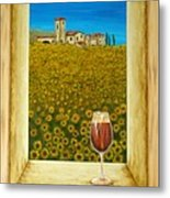 Tuscan View Metal Print