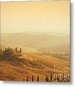 Tuscan Villa Sunrise Metal Print