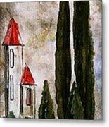 Tuscan Village Landscape Fine Art Print Metal Print