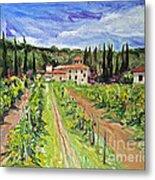 Tuscany Afternoon Metal Print