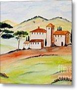 Tuscany-again And Again Metal Print