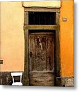 Tuscany Chair With Door Metal Print