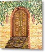 Tuscany Door Metal Print