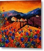 Tuscany Poppies Metal Print