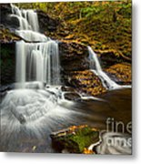 Tuscarora Falls In Fall Metal Print