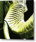 Tusk 1 - Dramatic Elephant Head Shot Art Metal Print
