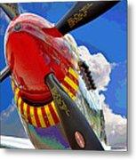 Tuskegee Airmen Fighter Plane Metal Print