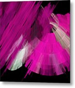 Tutu Stage Left Abstract Fuchsia Metal Print